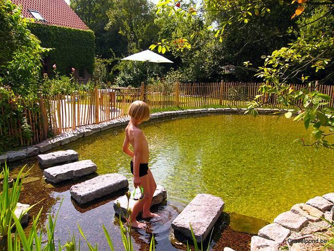 piscine naturelle double bassin