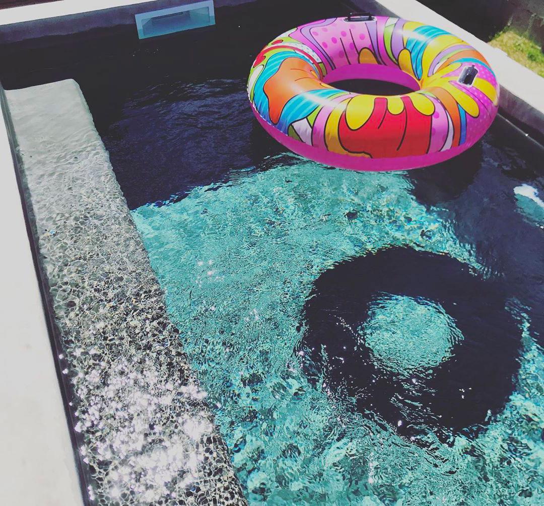 mini piscine beton