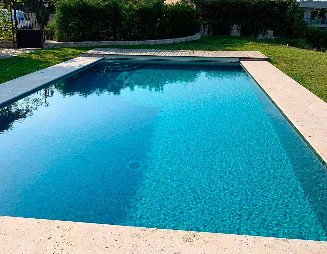 carrelage pate de verre piscine