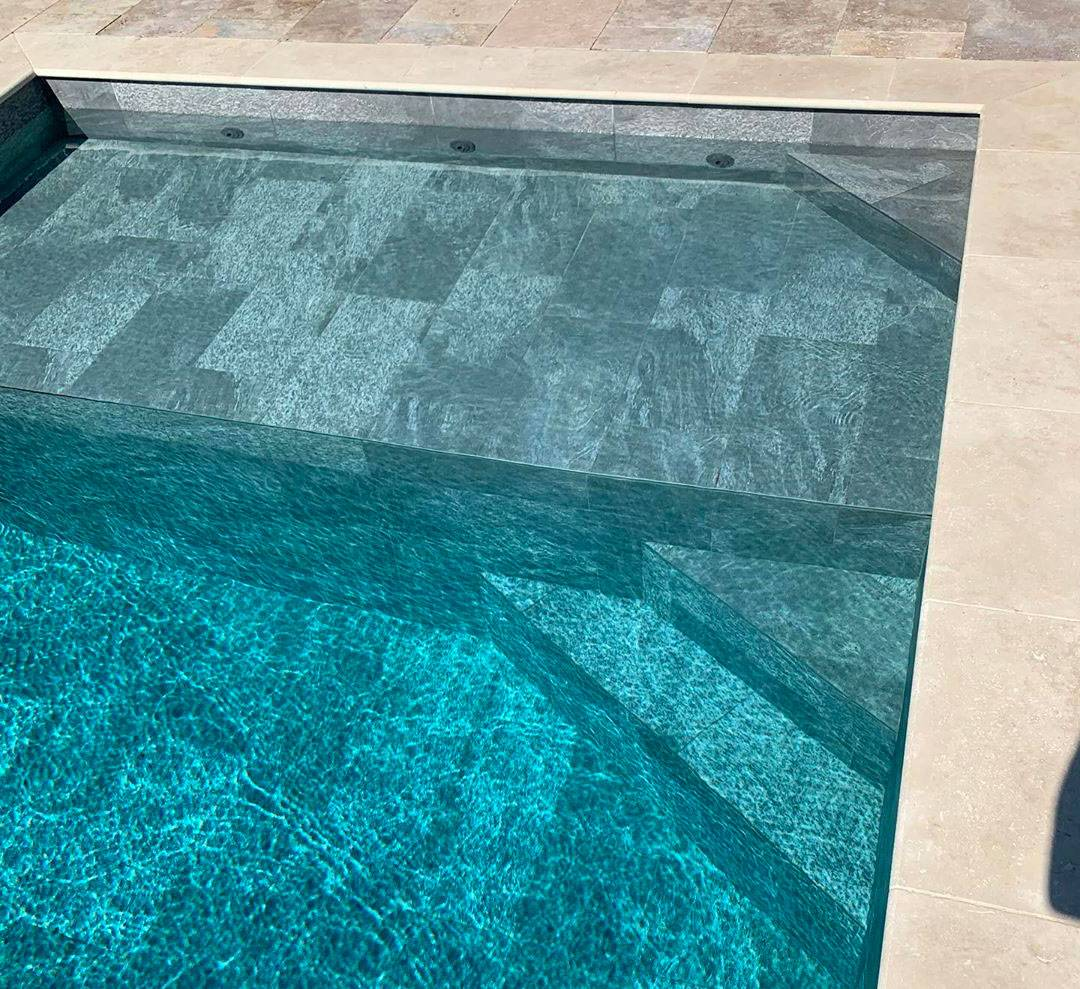 carrelage quartzite piscine